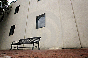 Bench Near A Building In Downtown Plano, TX Stock Image - Image: 6060031