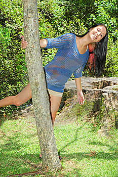 Swinging Around A Tree Royalty Free Stock Photography - Image: 6060537