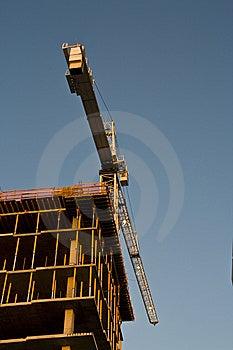 Crane Building A Tall Building Stock Photos - Image: 6061023