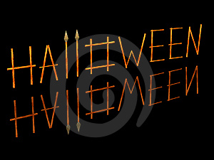 3D The Image Of A Word A Halloween Stock Image - Image: 6066641