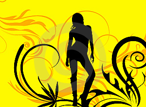 Yellow Florial Female Royalty Free Stock Image - Image: 6067436