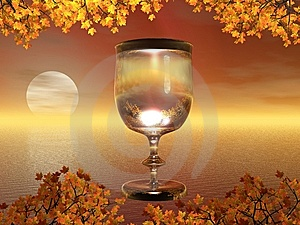 Sun In Glass Royalty Free Stock Image - Image: 6068596