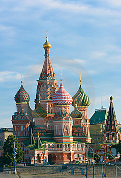Saint Basil's Cathedral In Moscow Royalty Free Stock Photos - Image: 6071828
