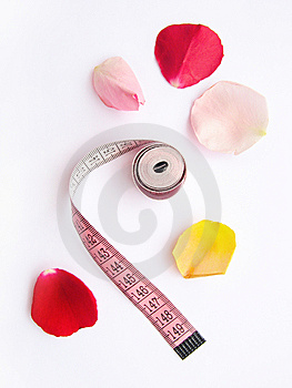 Diet Massband Petals Lose Weight Stock Images - Image: 6072734