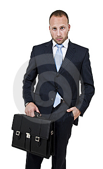 Executive With Bag Royalty Free Stock Photo - Image: 6072935