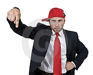 Man Indicating Royalty Free Stock Image - Image: 6073216