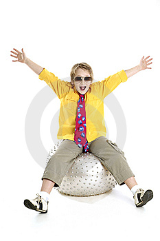 Ecstatic Boy Royalty Free Stock Photo - Image: 6073805