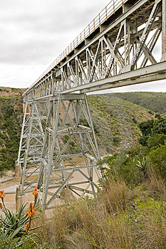 Train Bridge Over River Royalty Free Stock Photo - Image: 6075035