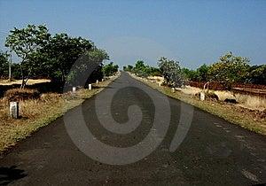 Straight Village Road Royalty Free Stock Photo - Image: 6075555