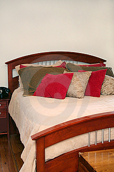 Bed With Many Pillows Royalty Free Stock Photo - Image: 6076465