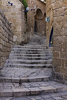 Alley In Jaffa Royalty Free Stock Photo - Image: 6078165