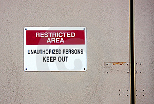 Restricted Area Royalty Free Stock Photo - Image: 6079635