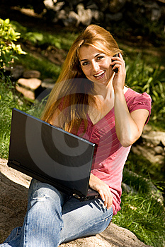 Student Using Laptop Royalty Free Stock Photography - Image: 6079637
