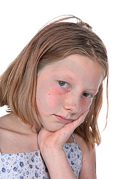 Freckled Sad Girl Stock Images - Image: 6080134