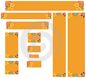 Banderas Diseñadas Retras Del Web Imágenes de archivo libres de regalías - Imagen: 6082159