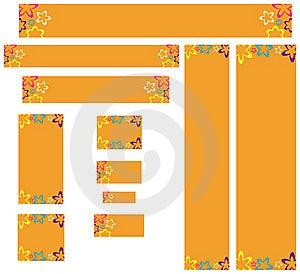 Banners Retro Styled Web Στοκ εικόνες με δικαίωμα ελεύθερης χρήσης - εικόνα: 6082159