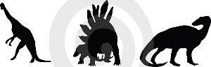 Dino. Silhouettes Stock Image - Image: 6083891