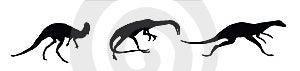 Dino. Silhouettes Stock Photos - Image: 6084023
