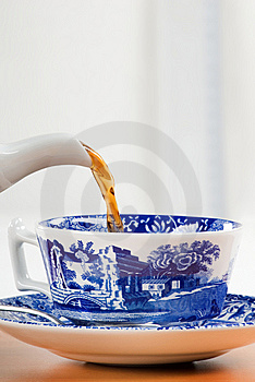 Pouring A Cup Of Tea Stock Photo - Image: 6084330