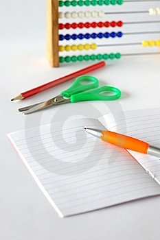 Notebook And School Aids Stock Images - Image: 6087724