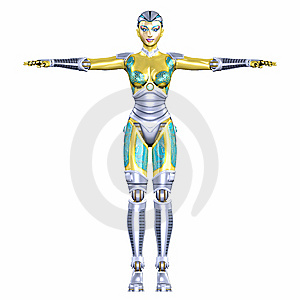 Female Cyborg Stock Image - Image: 6088631