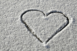 Snow Heart Stock Image