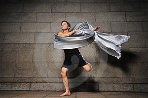 Bemannen Sie In Bewegung 13 Stockfotografie - Bild: 6092452