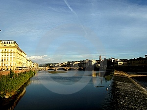 Glimpse Of Arno River Royalty Free Stock Photos - Image: 6092568