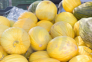 Yellows Melons Close Up Royalty Free Stock Images - Image: 6094989