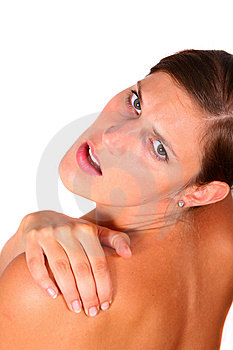 Pain Shoulder Royalty Free Stock Images