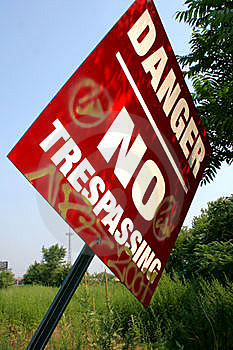No Trespassing Royalty Free Stock Photos - Image: 6095888