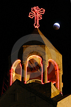 Lunar Behind Nativity Church In Bethlehem Stock Photo - Image: 6096140