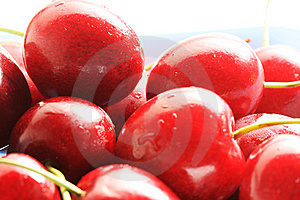 Fresh Red Cherries Royalty Free Stock Photography - Image: 6098767