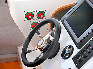 Motor Boat Control Panel Royalty Free Stock Photo - Image: 6099175