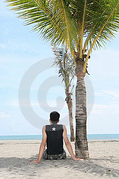 Enjoy On Tropical Beach Royalty Free Stock Photos - Image: 6099338