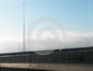 Radio Towers And Barriers Royalty Free Stock Images - Image: 614629
