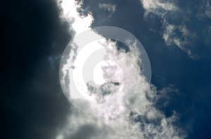 Contrasting Sky Royalty Free Stock Images