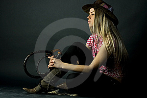 With A Whip Royalty Free Stock Photo - Image: 6101625