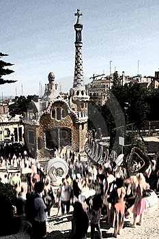 Parc Guell, Barcelona Royalty Free Stock Images - Image: 6103799