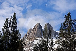 Moon Over Mountain Royalty Free Stock Photo - Image: 6104425