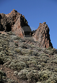 Mountains Of El Teide Park In Tenerife Island Royalty Free Stock Image - Image: 6106956