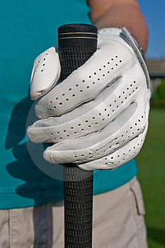 Golfer's Hand Holds Club - Vertical Royalty Free Stock Photo - Image: 6107685