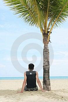 Geniet Van Op Tropisch Strand Royalty-vrije Stock Foto - Beeld: 6109135