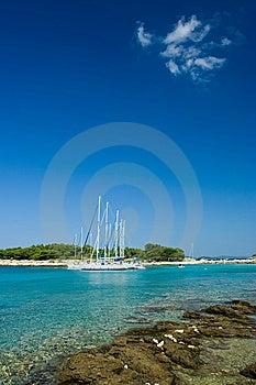 Sail Boats Docked In Beautiful Bay, Adriatic Sea, Stock Image - Image: 6110731