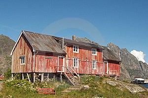 Verlassenen Alten Lofotens Bauernhof Stockbild - Bild: 6112321