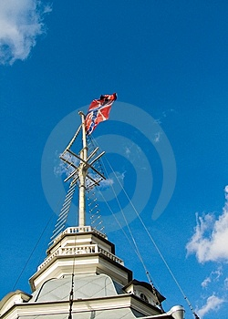 Flag And Sky Royalty Free Stock Photo - Image: 6112385