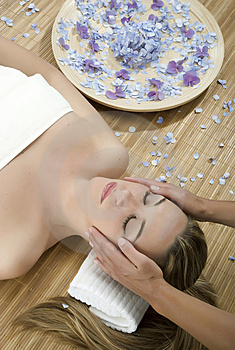Massage therapy Stock Photos