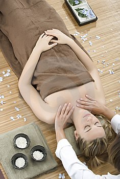 Massage therapy Stock Photo