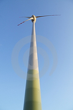 Single Wind Turbine. Alternative Energy Source. Stock Photography - Image: 6116362