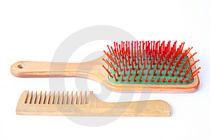 Hairbrush Royalty Free Stock Photos - Image: 6116418